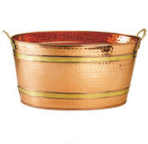Old Dutch Oval Dcor Copper Party Tub 11 Gal