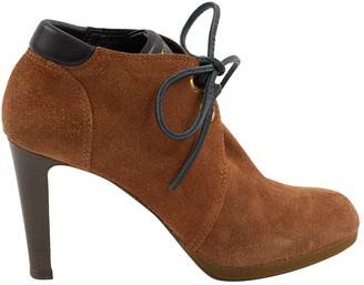 Sergio Rossi Brown Suede Ankle boots