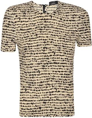 Proenza Schouler Printed Georgette Long Sleeve Tie Neck Blouse