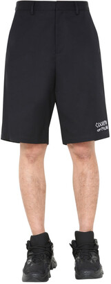 Marcelo Burlon County of Milan Embroidered Logo Bermuda Shorts