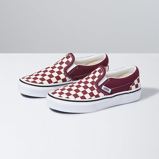Vans Kids Checkerboard Classic Slip-On