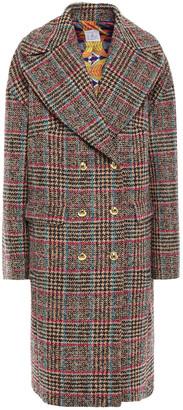 Stella Jean Double-breasted Wool-blend Boucle-tweed Coat