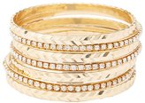Charlotte Russe Etched & Embellished Bangle Bracelets - 7 Pack