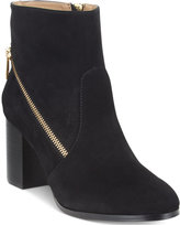Adrienne Vittadini Bob Side-Zipper Ankle Booties