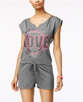 Material Girl Active Pro Juniors' Graphic Romper, Only at Macy's