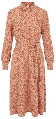 Pieces Floral Shirt Dress - XS (6)