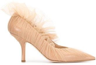 Midnight 00 Tulle Pointed Pumps