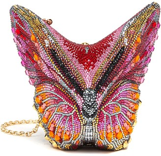 Judith Leiber 'Butterfly Fireclipper' Crystal Embellished Clutch