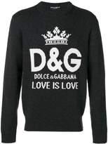 Dolce & Gabbana logo intarsia jumper