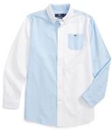 Vineyard Vines Boy's Party Whale Oxford Shirt