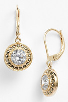 Judith Jack Gold Plated Sterling Silver Marcasite & CZ Drop Earrings