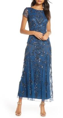 Pisarro Nights Embellished Mesh Gown