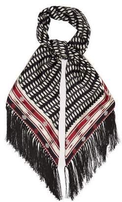 Gabriela Hearst Geometric-print Silk-twill Scarf - Womens - Black