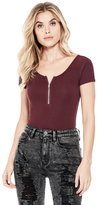 GUESS Factory Women's Liliya Zip Top