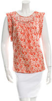 Loeffler Randall Silk Cutout Top