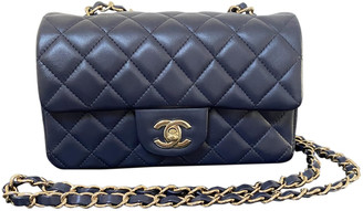 Chanel Timeless/Classique Navy Leather Handbags