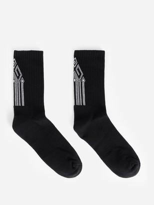 Marcelo Burlon County of Milan County Tape Crew Socks