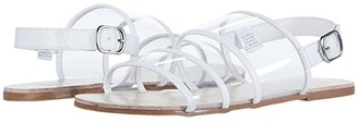 Janie and Jack Clear Strap Sandal (Toddler/Little Kid/Big Kid) (White) Girl's Shoes
