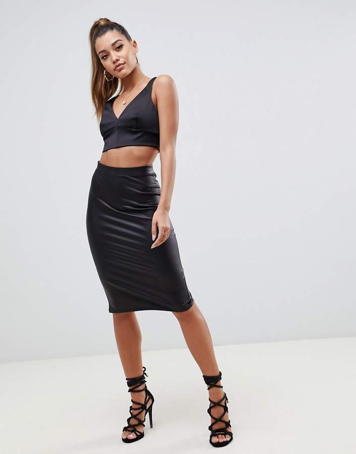 b0fbd28618c329 Asos Black Leather Skirt - ShopStyle