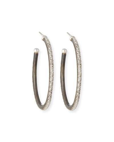 Armenta New World Scalloped-Edge Hoop Earrings