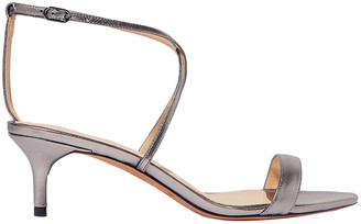 Alexandre Birman Smart Cocktail Metallic Leather Sandals