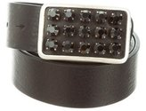 Ronald Pineau Embellished Leather Belt