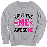 Athletic Heather 'I Put the Me in Awesome' Slouchy Pullover