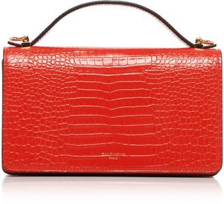 Givenchy GV3 Croc-Effect Leather Shoulder Bag