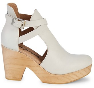 Free People Round-Toe Leather Clogs