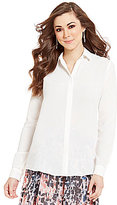 Antonio Melani Jennifer Button-Front Long Sleeve Blouse