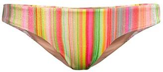 Pq Ruched Retro Stripe Bikini Bottom