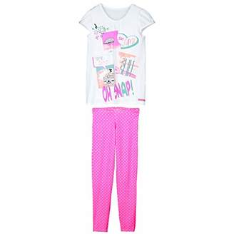 Camilla And Marc Girls' Tunic Pyjamas + Leggings - Caramel - Size - 8/10 Years (128/140 cm)