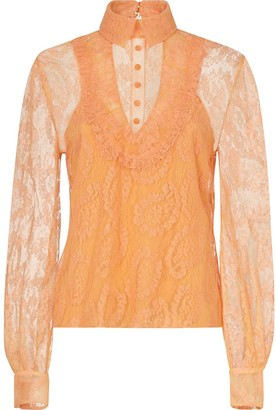 Fendi Lace Layered Blouse
