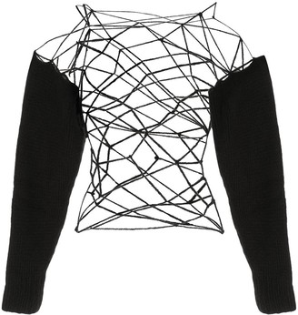 Ann Demeulemeester Wally open knitted top