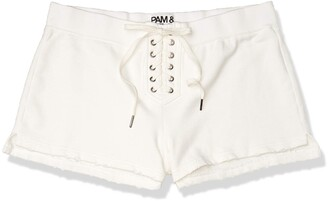 Pam & Gela Women's Cropped Short with Laceup