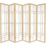 Oriental Furniture Asian Decor 6-Feet Eudes Japanese Shoji Folding Privacy Floor Screen Room Divider