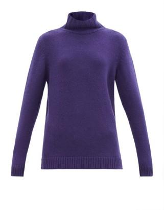 The Elder Statesman Stand-neck Cashmere Sweater - Navy