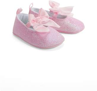 Little Me Baby's Glitter Mary Jane Bow Shoes