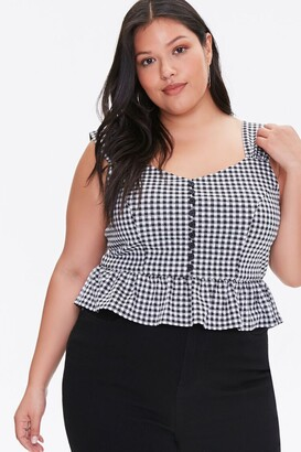 Forever 21 Plus Size Gingham Crop Top
