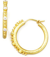 Elizabeth Locke Giant Diamond 19k Gold Hoop Earrings