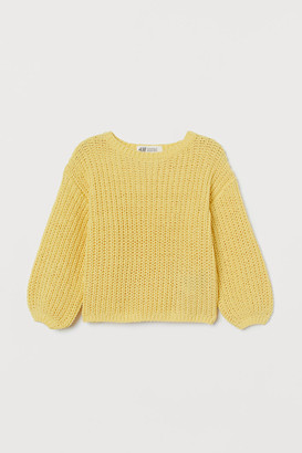 H&M Chenille Sweater - Yellow