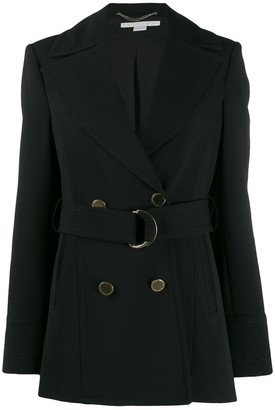 Stella McCartney Double-Breasted Belted Coat