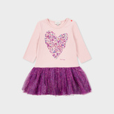 Paul Smith Baby Girls' Pink Foil-Print Heart 'Makala' Dress