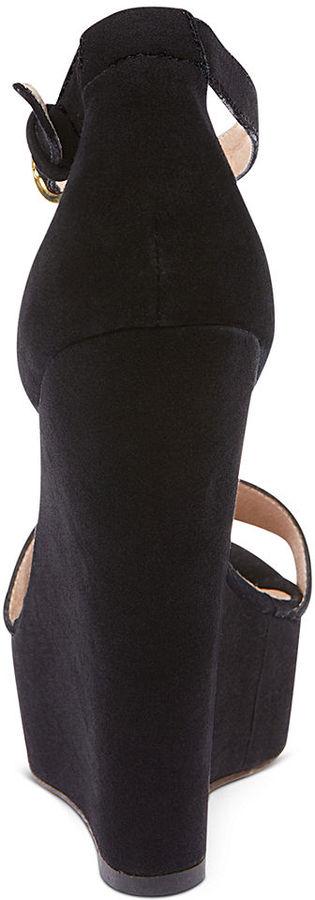 Steve Madden Xtrime T-Strap Platform Wedge Sandals