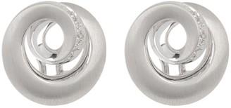 Breuning Sterling Silver & Diamond Swirl Stud Earrings - 0.088 ctw