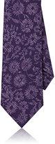 Isaia Men's Floral Wool Necktie-PURPLE