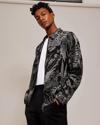 Ted Baker Printed Linen-blend Jacket