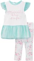 Rene Rofe Mermaid Princess Dress & Legging Set (Baby Girls)