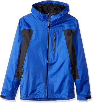 Wrangler Men's Waterproof Zip Front Rain Jacket-Big and Tall