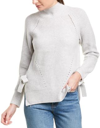 Rebecca Taylor Rib-Knit Mock Pullover